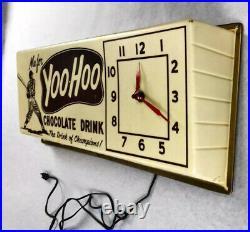 1961 Yogi Berra Vintage Yoo-Hoo Promotional Display Store Clock Yankees RARE
