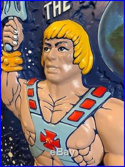 1980s Rare Vintage He-Man Masters Of The Universe MOTU Hanging Store Display