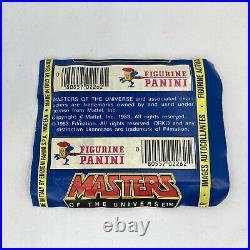 1983 MOTU STICKERS Sealed Panini Mattel RARE 100 Pack Lot in Store Display Box