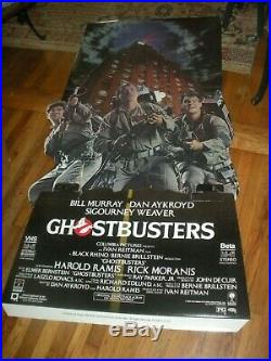 1985 GHOSTBUSTERS Video Store Promo Standee Display. Rare