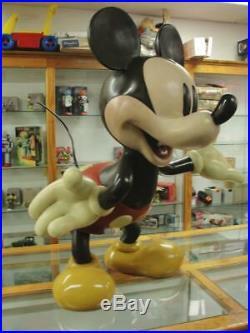 2000's Rare Walt Disney Life Size Mickey Mouse Store Display Statue Big Figure