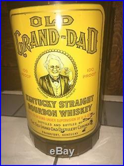 25 Huge Bottle Old Grand Dad Bourbon Whiskey Store Display Rare