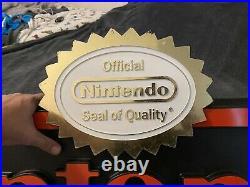 4ft Nintendo Logo With Seal Store Display Sign Promo Rare Merchandising