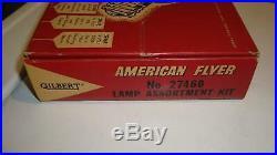 American Flyer 27460 Dealer Store Counter Lamp Display Box w 52 Bulbs RARE