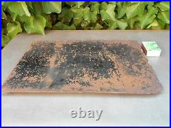 Ancienne rare plaque originale émaillée bombée salon de coiffure SALON DU SIECLE