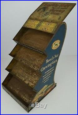 Antique Beech Nut Chewing Gum Tin Litho General Store Counter Rack Display Rare