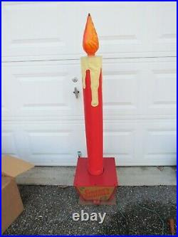 Antique NOMA Christmas LIGHT Store Display Candle 53 tall RARE SPRINGLAKE NJ