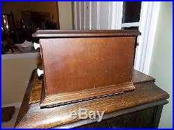 Antique RARE National Pin Co 2 Drawer Box Needle Display Case Cabinet 1800's