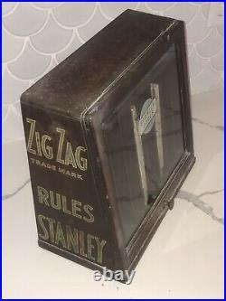 Antique Stanley Tools Original Hardware Store Display Cabinet Sign Rare