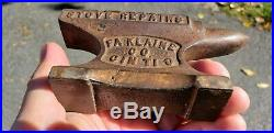 Antique Vintage Advertising Anvil Doublesided Rare Country Store
