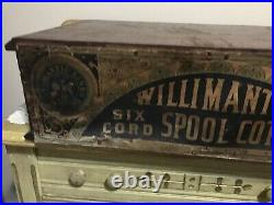 Antique Willimantic Thread/ Spool Store Counter 2 Drawer Display Cabinet Rare