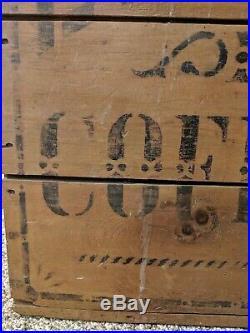 Antique Wood Advertising General Store Display Luxury Coffee 100lbs Bin Box Rare