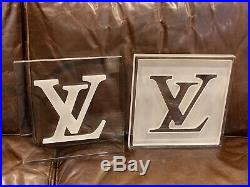 Authentic Louis Vuitton Store Display Installation rare LV logo clear acrylic