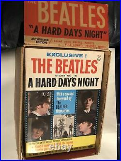 Beatles Rare A Hard Day's Night In-store Magazine Display With Magazine