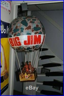 Big Jim Mattel Vintage Store Display Large Balloon Super Rare