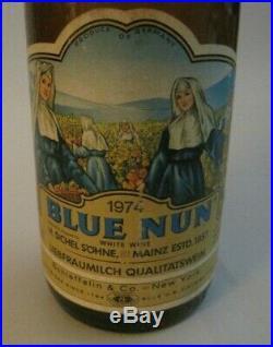 Blue Nun Rare Vintage Advertising Salesman Liquor Display Bottle Stand