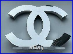CHANEL DISPLAY FACTICE store LOGO SILVER gift very rare