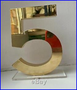 CHANEL DISPLAY FACTICE store NO 5 gold gift very rare