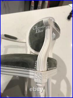 CHRISTIAN DIOR Miniature Vintage Fashion Store Display Classic Velvet Chair RARE