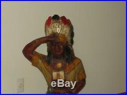 CIGAR STORE INDIAN Alfco NY Advertising Store Display Indian Chief RARE 5 FOOT