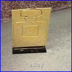 Chanel Paris Perfume Bottle Store Display stand Gold Metal Cut-Out. MINT. RARE