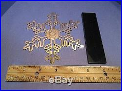 Chanel Snowflake CC Perfume Store Display Gold Metal Cut-Out VERY RARE Signed