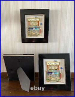 Charles Fazzino Mohegan Sun Slot Machine Store Display Dimension 3D Framed RARE