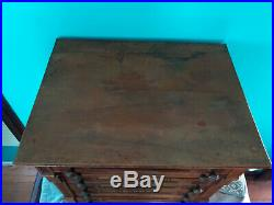 Clark's ONT Antique 6 Drawer Oak Spool Cabinet RARE LARGE Store Display Counter