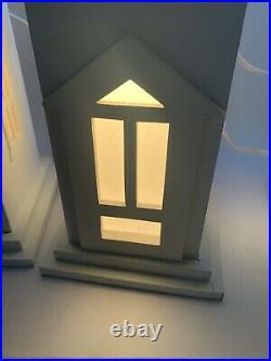 Dept 56 Christmas Village Store Window Display Winter Silhouette Treasures RARE