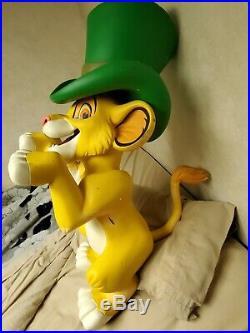 Disney Simba Store Prop Figure Display 1995 Used Very Rare Disneyland Disneyana