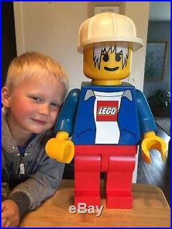 EUC RARE LEGO OVERSIZED Man Minifigure Store Display 19 Tall Hard Hat