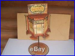 Early Rare Curtiss Hard Candy Roll Revolving Store Counter Advertising Display
