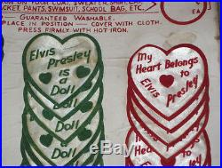 Elvis Presley EPE Store Display With Iron On Patches Emblems RARE 1956
