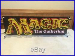 Extremely Rare Magic The Gathering Mtg Store Display Neon Sign