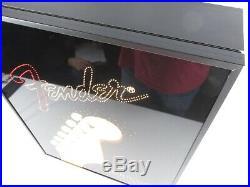 FENDER GUITAR Fiber Optic Light Dealer Display Sign Advertising Store RARE FIND