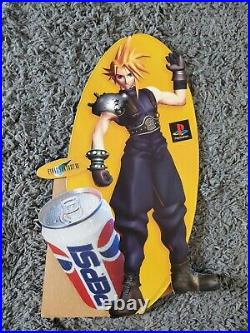 Final Fantasy VII 7 Cloud Standee Pepsi Playstation Store Display FFVII RARE
