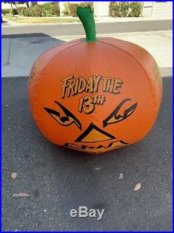 Friday The 13th Video Store Display Pumpkin Rare Jason Hockey Mask 80s