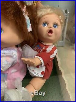 Galoob Baby Face Dolls Lot Of 5 1990 Rare Store Display