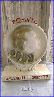 Great, Vintage advertising figure, FORVIL shampoo, RARE, store display, haircare