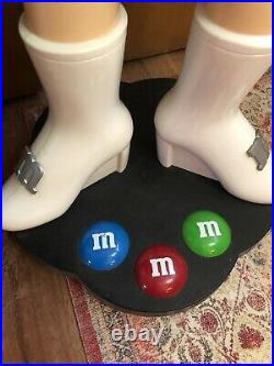 Green M&M's Candy Character Collectible Large Store Display 39 RARE On Wheels