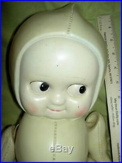 HUGE 1930s RARE celluloid (plastic) jointed Kewpie store display doll by ROYAL