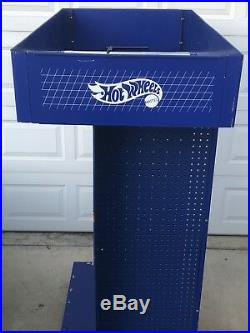 Hot Wheels Race Center pegboard display store stand RARE VHTF blue 6' tall DTC