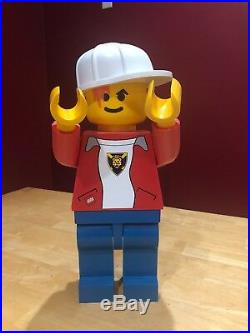 Huge Lego Minifigure Store Display 19 Inches Tall Rare