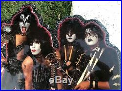 KISS-RECORD STORE DISPLAY-ORIGINAL & almost Perfect- NOT SOLD TO PUBLIC- RARE
