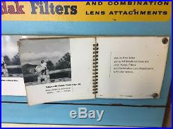 KODAK FILTERS ADVERTISING RARE WOODEN STORE DISPLAY VINTAGE With PULL OUT DRAWERS