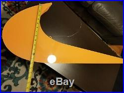 Large Nike Swoosh Check Hanging Store Display Sign Advertisement 4 ft wide RARE