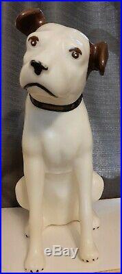 Large Vintage RCA Victor Nipper Dog 18 Plastic Store Display Dog Rare