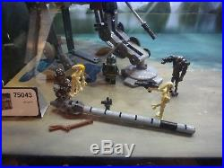 Lego Star Wars lighted store display case 75043 AT-AP, 75042 Droid Gunship. Rare