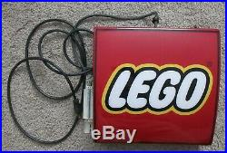 Lego Store Display Light Up Sign Vintage Retailer Retail Rare Lighted Advertise