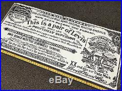 Levi Strauss & Co RARE VINTAGE STORE DISPLAY LOGO POSTER / Over-Sized 59 x 26